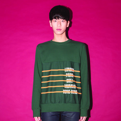 CITY-STRIPE SWEAT SHIRT_GREEN_(20%할인)